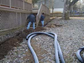 French Drain in Hermitage Tn Winter