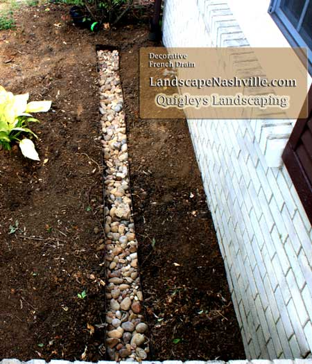 Nashville Decorative French Drain Image