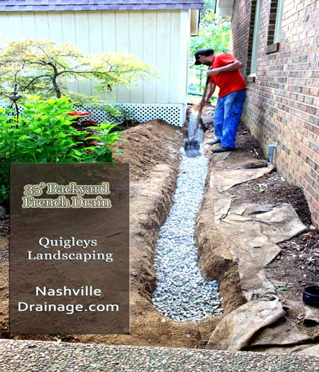 Nashville French Drain Photo
