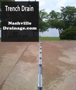 Nashville Trench Drains For Driveways And Large Sidewalks
