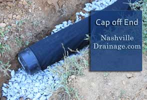 Nashville Drainage images french drain cap